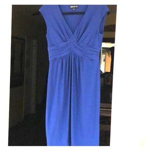 Royal blue petite dress. Great for a party.
